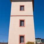Blick auf den alten Fährturm
